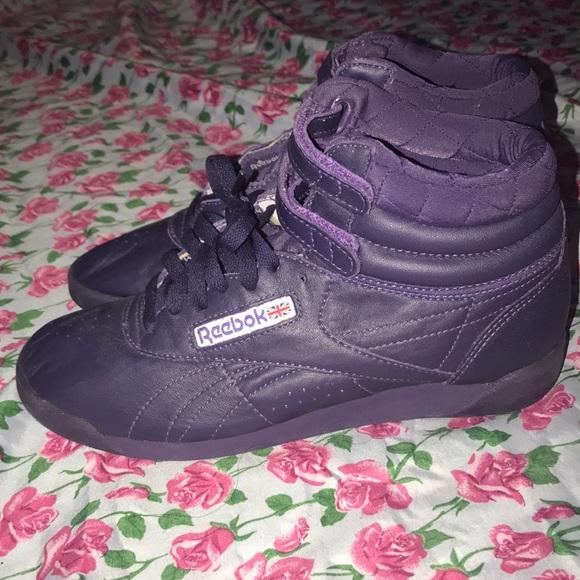 size 40 0389e f8793 Amazing Retro Reebok Classic Hi Top Purple